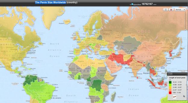 ThePenisSizeWorldwide(country)